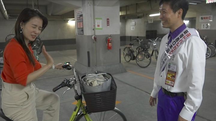 パナソニックの自転車試乗感想を語る奈津子画像