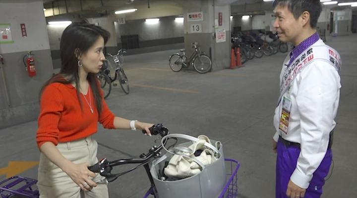 ブリヂストンの電動自転車試乗の感想を語る奈津子