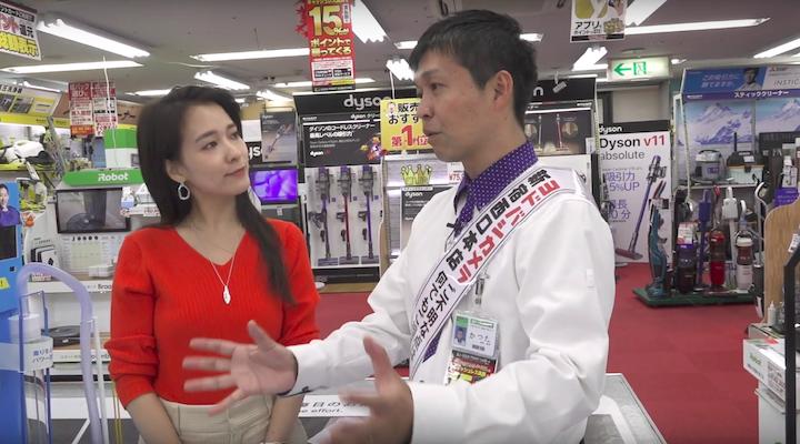 おすすめの掃除機の選び方を紹介する勝田さんの画像