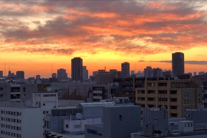 iPhone Xで撮影した夕焼け写真