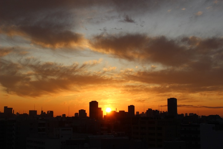 Canon EOS Kiss X7で撮影した夕焼け写真