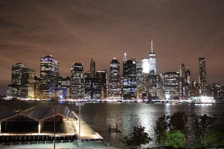 Canon EOS Kiss X7で撮影した、ニューヨークの夜景の写真