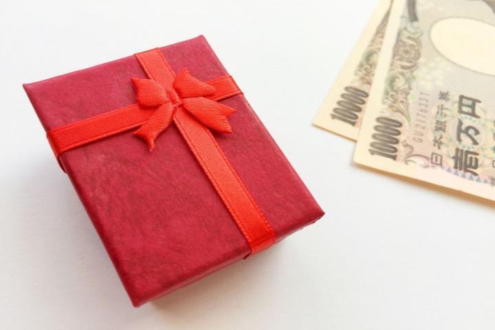 プレゼントの金額の写真