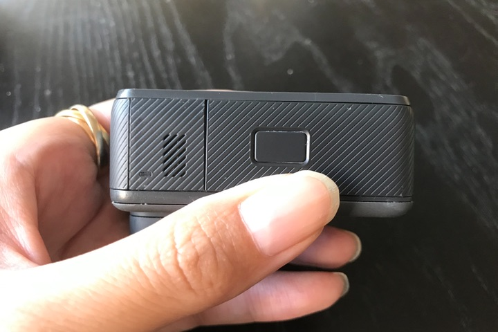 GoProのメモリーカードスロット