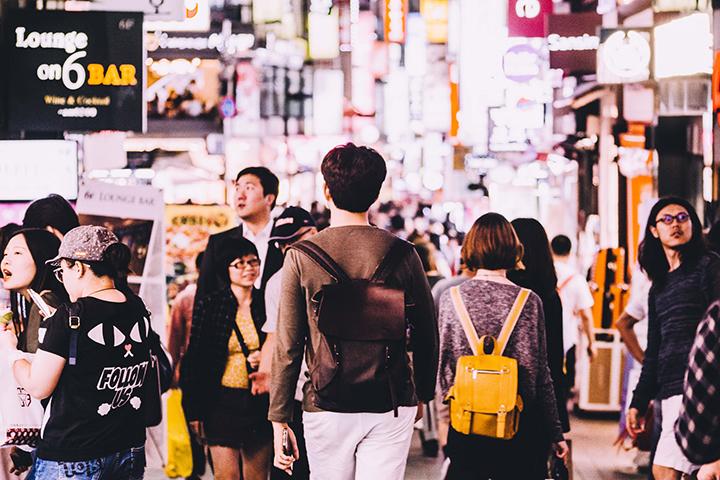 ソウルの街並みの画像