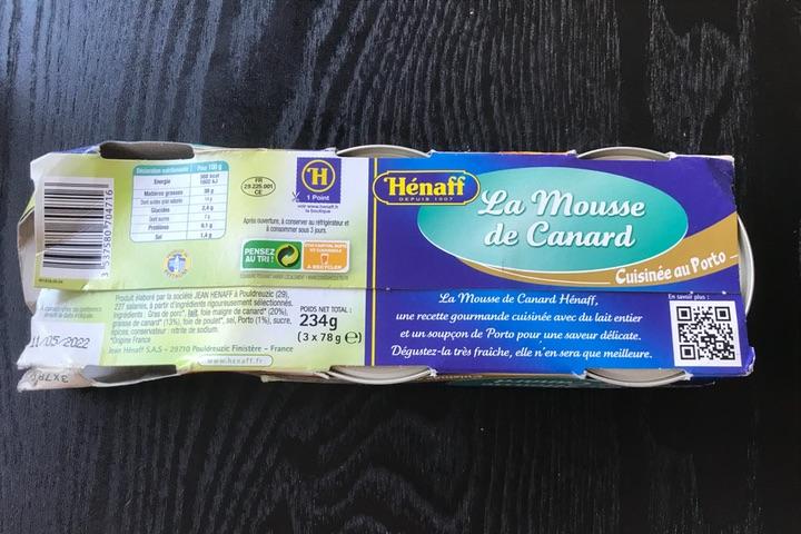 フランス語で書かれたパッケージ