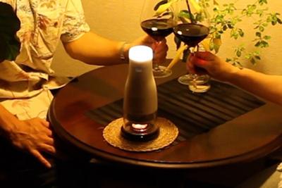 キャンドルの熱を光に LEDランプ『LUMIR』