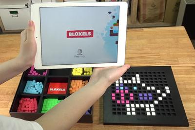 ブロックで組んだキャラが跳び回る! 子供用ゲーム『BLOXELS』
