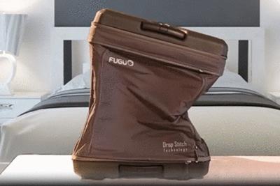 折りたためるスーツケース!?「FUGU LUGGAGE」