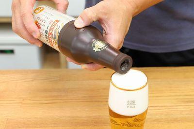 缶ビールにのせるだけで濃密泡『泡ひげビアー』