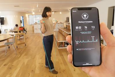 スマホアプリと連動するスマート縄跳びをあなたの新しい運動習慣に!『LR-02』