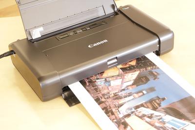 カバンに入れて手軽に持ち運べるおすすめモバイルプリンター!「Canon PIXUS iP110」