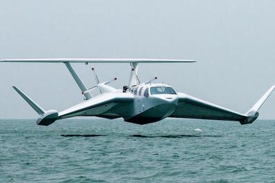 水面スレスレを地面効果で優雅に飛ぶ航空機『AIRFISH 8』