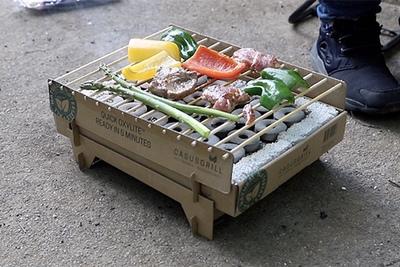 焼いた後はゴミ箱へ! 使い捨てバーベキューグリル『クラフトグリル』