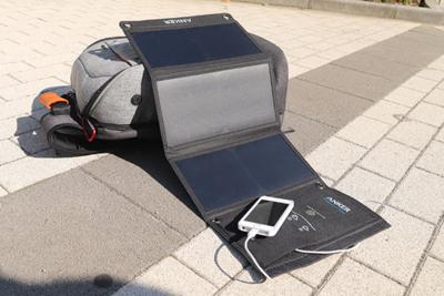 太陽の力でスマホをスピード充電!ソーラーパワーチャージャー『Anker PowerPort Solar』