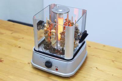 食卓の上で家焼き鳥が楽しめる!卓上無煙焼き鳥器『自家製焼き鳥メーカー』
