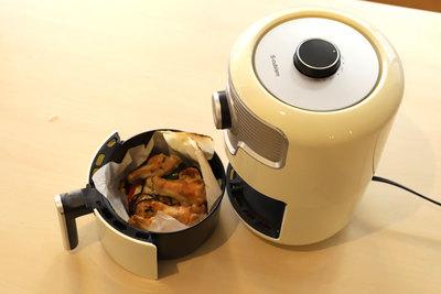 いろんなものが簡単に調理できる!レトロ調 熱風フライヤー「NFC-16」