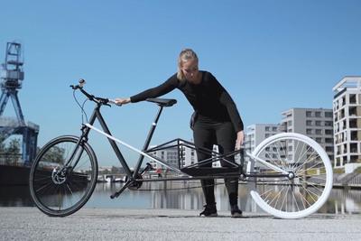 フレームが伸びる! 大容量荷物を収納できる新発想自転車