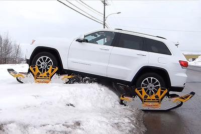 雪道も砂漠も! 「Track N Go」をクルマに装着すれば走破可能