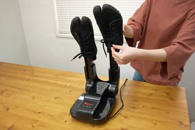 靴のなかまで乾かせてオゾン消臭もしてくれるニオイ対策乾燥機 「シュードライヤー」