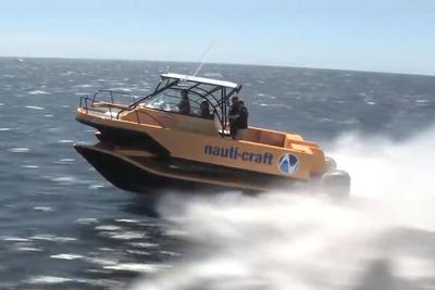 画期的! サスペンションでボートの揺れを打ち消す「Nauti-Craft」